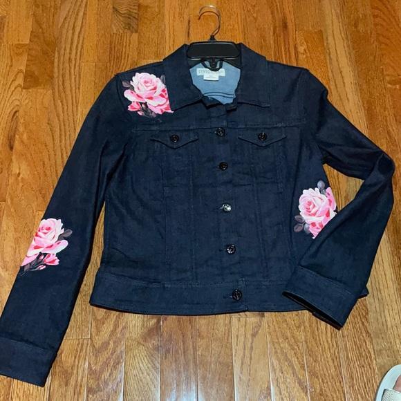 Kate Spade Broome Street Denim Floral Jacket